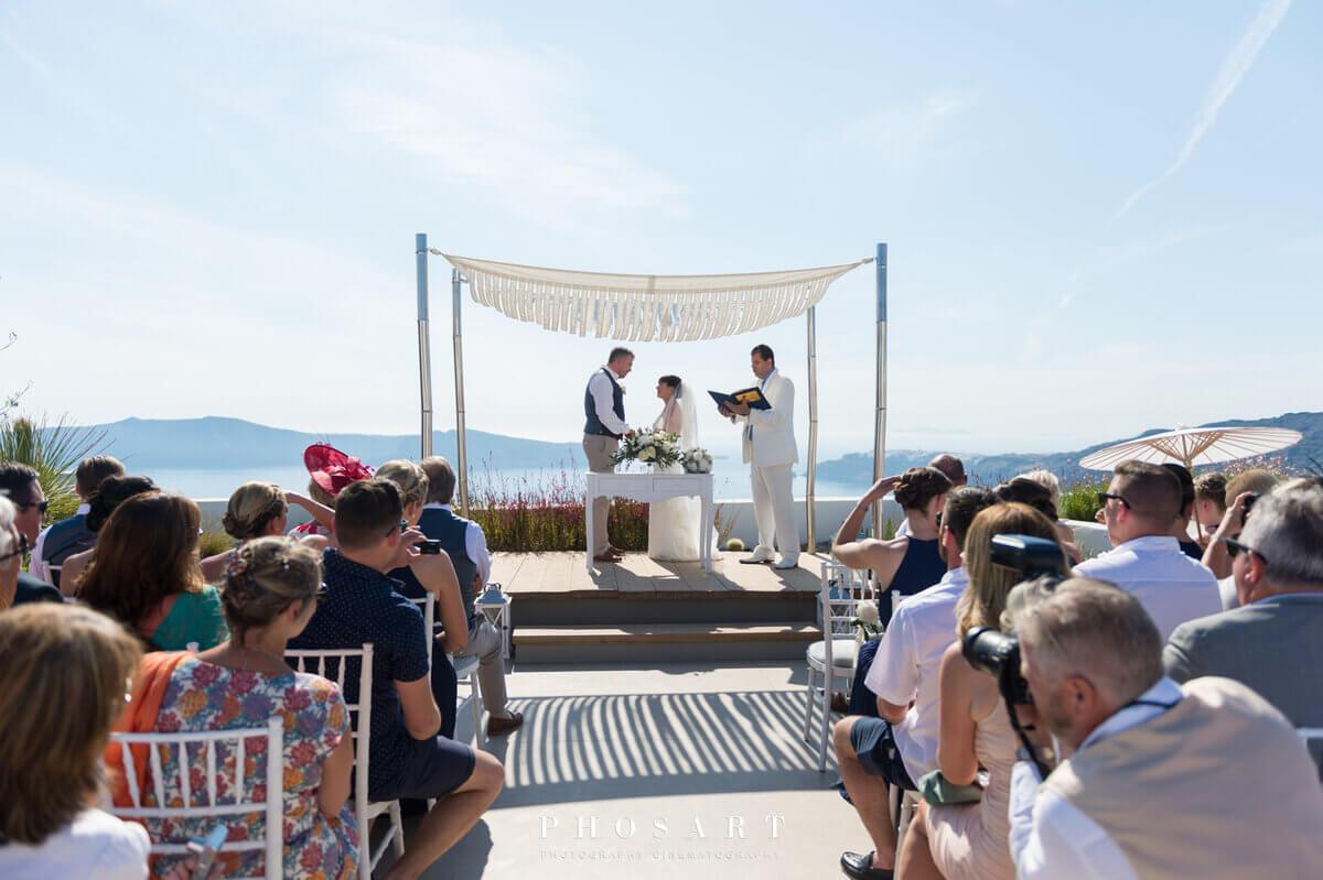 Santorini Wedding at Cavo Tagoo in Santorini by The Bridal Consultant