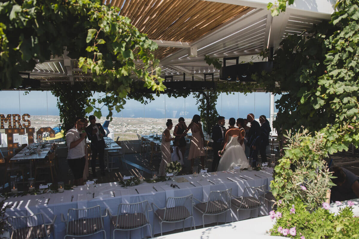 Pygros Boutique Taverna Wedding Santorini - The Bridal Consultant
