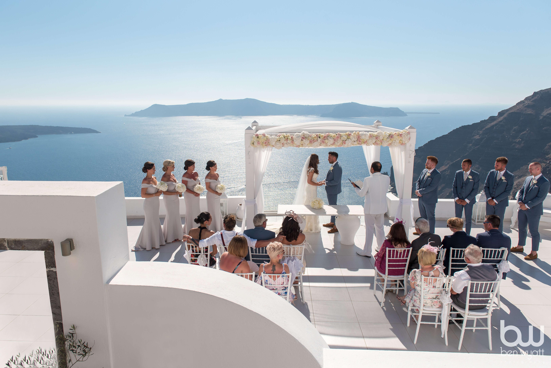 Intimate Weddings Abroad - Dana Villas Santorini