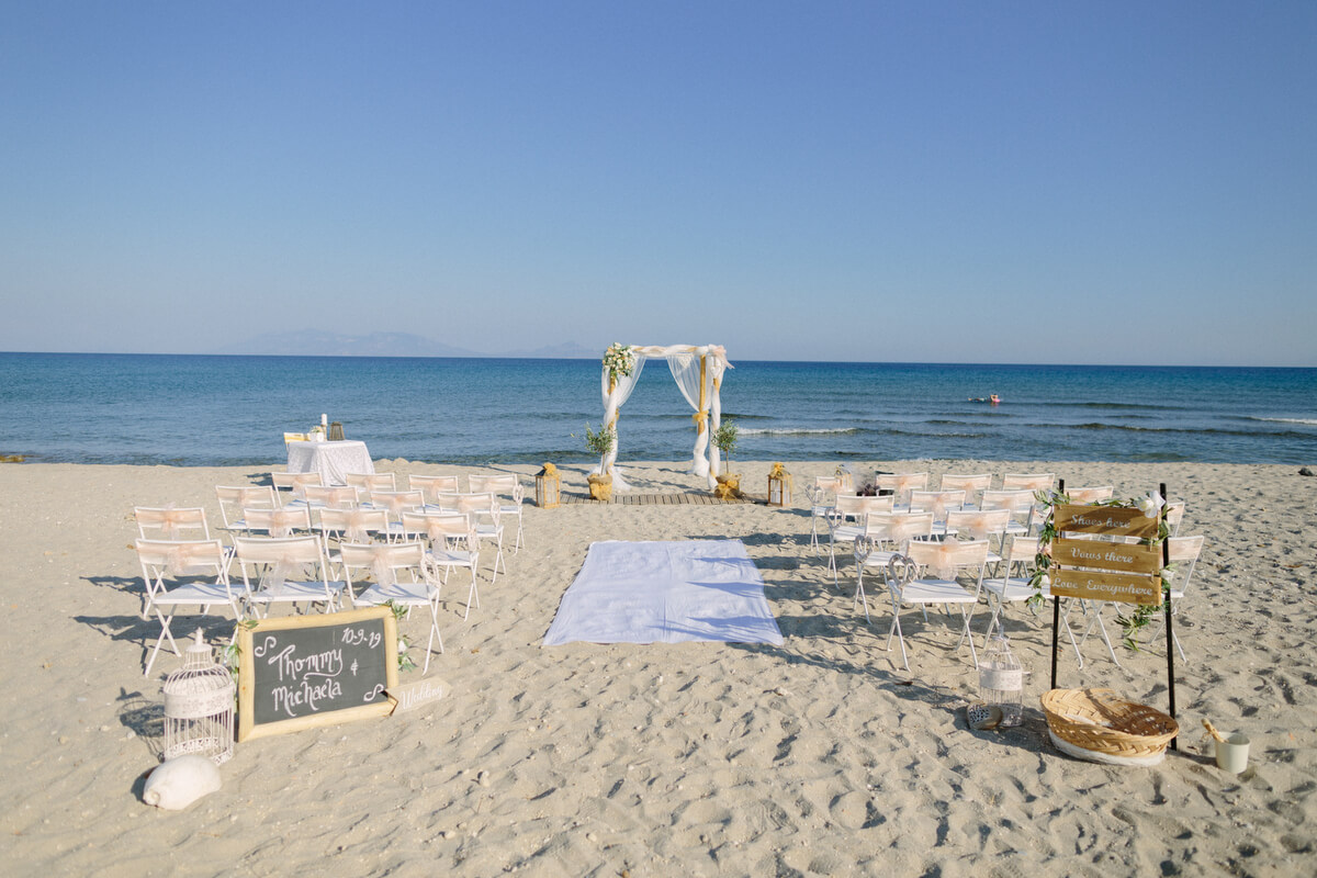 Beach Wedding packages for Kos- The Bridal Consultant