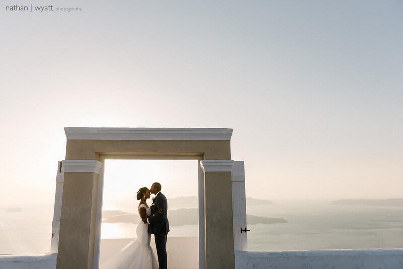 Weddings in Santorini at Santo Winery
