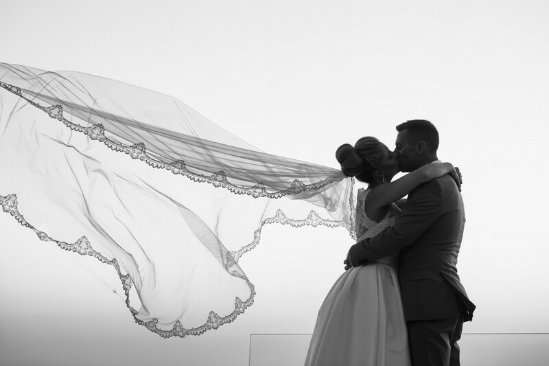 Wedding Veil - Santorini Wedding