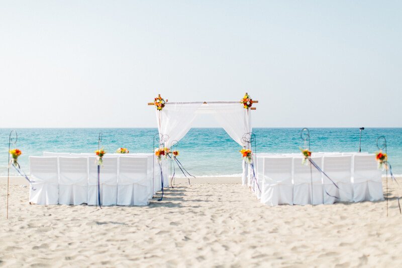 Getting Married Abroad on the beach in Crete